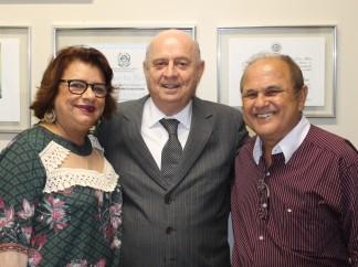 Prefeita Sueli e lideranças de Faria Lemos visitam deputado Braulio Braz